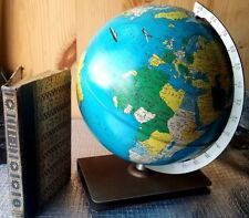 Rand Mcnally 1951 World Master Globe & Pocket Atlas. Mid Century Collectors Ed.