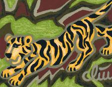 JACQUELINE DITT - Tiger - Element Earth A4 / DRUCK n.Gemälde Giclee