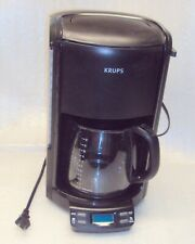 New listing Krups Fme2 Programmable Automatic Drip Coffee Maker 12 Cup Glass Carafe