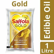 Saffola Gold Edible Oil, Pouch, 1L (Free shipping worldwide)