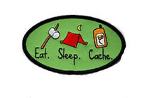 Eat Sleep Cache - Geocaching Patch Aufnäher