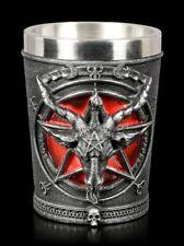 Schnapsbecher - Baphomet mit Pentagramm - Nemesis Now Trinkbecher Glas Tischdeko