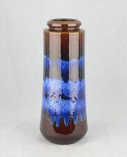 VINTAGE 70's SCHEURICH MID CENTURY BLUE DRIP GLAZE VASE WEST GERMAN 206-26 LAVA