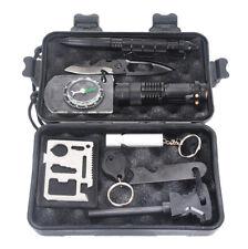 Survival Kit 10in1 Multifunktions Not Überlebens Werkzeuge Box Camping Jagd