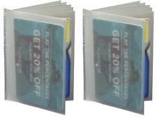 6 Page Plastic Wallet Insert Bifold Billfold Trifolds Top Load Set of 2 NEW