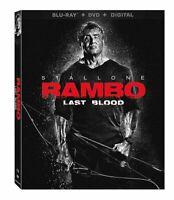 Rambo: Last Blood (Blu-Ray + DVD + DIGITAL +SLIPCOVER) NEW SYLVESTER STALLONE