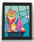 PERSIAN Cat Limited Edition Embellished Fine Art Print Sig. by Tania Oliveira