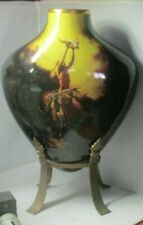 Franklin Mint Porcelain Vase w/ wStand Prayers to the Healing Spirit Buck McCain