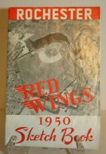 1950 ROCHESTER RED WINGS SKETCH BOOK (YEARBOOK)  PHOTOS & STATS OF BASEBALL TEAM