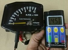 Testeur de batterie + Drehzahlmesser Motoplat 12000 tr/min 2-Takt compte-tours Revcounter