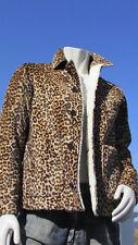 NEW BURBERRY PRORSUM 46/56 fur men's ITALY shearling leopard coat jacket $5750