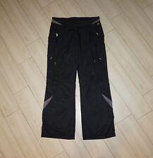 Womens ADIDAS Climacool Athletic Track Pants Black Gold Logo Mesh Lined M Medium