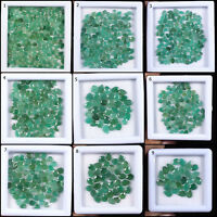 Top Natural Untreated Zambian Emerald Pear Cut Loose Gems Wholesale Lots