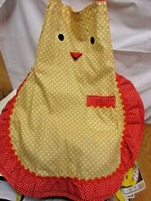 "Red Yellow polka dot ""Chicken"" apron Bib Apron With ruffles"".Blossoms&am p;Blooms"""