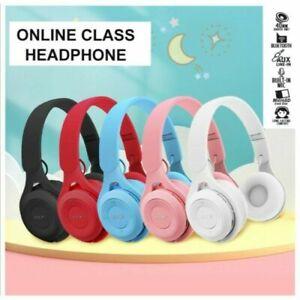 Bluetooth Wireless Kids Over-Ear Headphones Boys Girls IPad/Tablet/Phone Macaron
