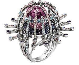 NIB$349 Swarovski Efflorescence Ring Statement Size 55/7 58/8 5199657 5221617