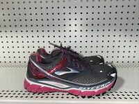 Brooks Glycerin 10 Womens Athletic Running Training Shoes Size 7 Gray Pink