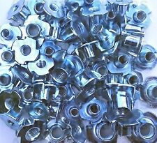 Tee Nuts 4mm,5mm,6mm,8mm,10mm, 4 Prong, Threaded Insert For Wood, Mixed Pack x50