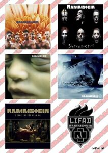 Rammstein Stickers Pack Hard Rock Heavy Metal Music Band Album Covers