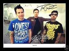 BLINK 182 AUTOGRAPHED SIGNED AND FRAMED PP PHOTO POSTER