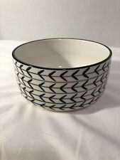 Signature housewares dog bowl food/water black  arrows- Single Replacement Bowl