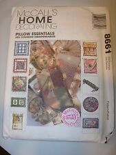 UNCUT MCCALLS 8661 HOME CRAFTS DECORATING PILLOW DECOR FABRIC SEWING PATTERN