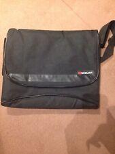 Monolith Nylon Messenger Laptop Bag Black