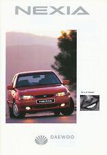 Daewoo Nexia Prospekt 1996 brochure Auto PKWs Autoprospekt Broschüre broschyr