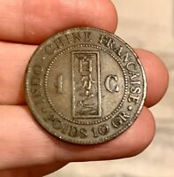 FRENCH INDO-CHINA Monnaie coloniale INDOCHINE 1 cent 1889 A KM# 1 en TTB - VFine