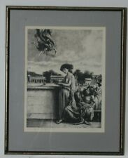 """""""Hermes, Hygeia, Aesculpaius, Panacea"""" Etching on Paper by Federico Castellon"""