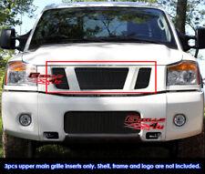 Fits 2008-2015 Nissan Titan Black Vertical Billet Grille Insert