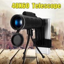 40X60 Optical Monocular Telescope Lens + Clip + Tripod Camera Mobile Phone HD