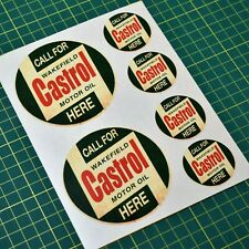 Castrol Oil Vintage Retro Sticker set - 6x stickers - Oil and Gas