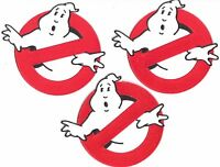 "GHOSTBUSTERS NO GHOST SET OF (3) SCREEN ACCURATE 4"" PATCHES (PREMIER QUALITY!)"