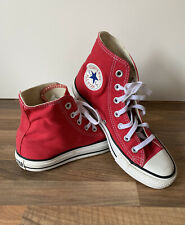 Converse Chuck Taylor All Star High Tops Shoes Red UK 5 Unisex Women's