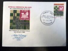 MADAGASCAR  715   PREMIER JOUR FDC       FIDE, ECHECS     5F     1984