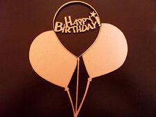 happy birthday balloons wooden plaque blank