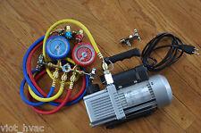 Hvac Tool Kit2stage Rotary Vacuum Pumpmanifold Gauge Setcar Coupler R134a Tap