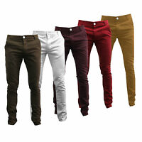 MENS CHINOS SLIM FIT BRANDED SOUL STAR SIZES 28 30 32 34 36 REGULAR LONG KIDDER