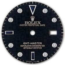 Rolex GMT Master Stainless Steel Black Jubilee Serti Diamond Sapphire Dial