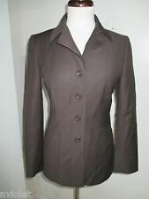 GIORGIO VALENTINI MADE ITALY 100% WOOL BLAZER JACKET BROWN SZ 6