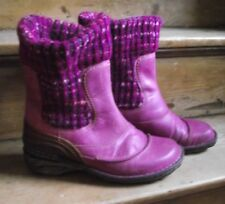 Josef Seibel Lydia Purple Pink Leather and wool Ankle Boots Size 7 (40)