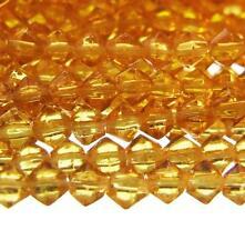 115+ Petit Verre Perles Bicone Doré Ambre 3mm 14'' Brin