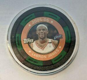 LeBron James 2005-06 NBA Topps poker collector chip Green/Black Cavs/Lakers