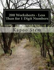 200 Days Math Less Than Ser.: 200 Worksheets - Less Than for 1 Digit Numbers...