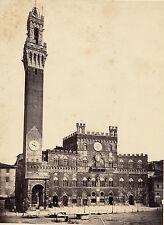 SIENNE c. 1870 - Torre del Mangia Italie  - 47
