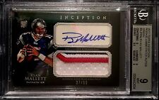2011 Topps Inception Green Ryan Mallett Auto 3-Color Patch RC #'d 50 BGS 9!!!