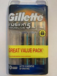 Gillette Fusion5 ProGlide Razor Blades – 10 Pack  GENUINE