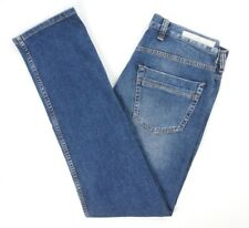 NEW $345 ELEVENTY FIRST CLASS MED WASH ITALY MADE 5 TASCHE YOUNG JEANS SIZE 38