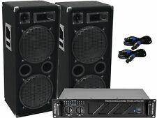 Das PA-SET 54 Power Ibiza Anlage DJ 3Wege 4 x 30 cm Bass USB Musikanlage 3000 W
